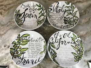 Olive Oil Pasta Bowls By Rosanna Set Of 4 Made In