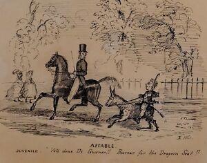 1861 Unterzeichnet & Datierter Original Kunstwerk Zeichnung Sketch - Mit