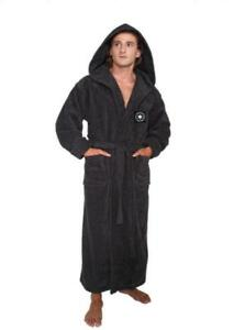 f937708638 6% OFF . Image is loading Mens-Hooded-Bathrobe-Turkish-Cotton-Terry-Spa-Robe -