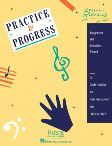 Practice /& Progress Lesson Notebook Faber Piano Adventures Book NEW 000420133
