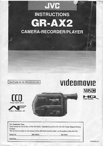 manual instructions jvc gr ax2 camcorder photocopy 36 pages ebay rh ebay com user manual for jvc everio gz-mg330 JVC Everio Operating Manual