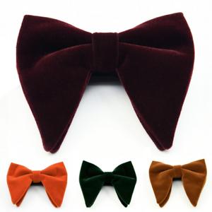 Men Suit Bow Tie Tuxedo Bowtie Wedding Groom Dinner Oversized Necktie Adjustable