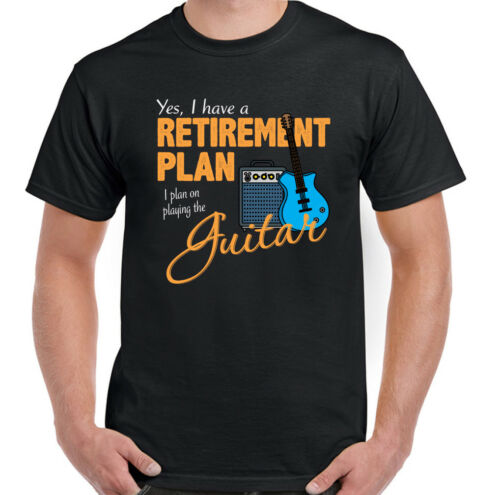 Guitar Retirement Plan Mens Guitarist T-Shirt Acoustic Electric Bass Amp String