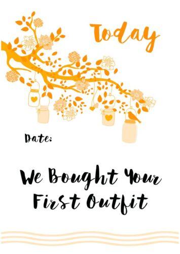 matching baby milestones available Pregnancy Milestone Cards Shabby Chic Orange
