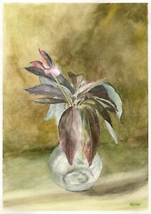 Peony-Still-Life-original-watercolor-flower-painting-garden-kitchen-yard-art