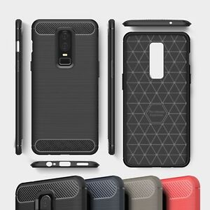 new product b0435 64003 Details about OnePlus 5 5T 6 Carbon Fibre Best TPU Silicone Gel Case  Protection Phone Cover UK