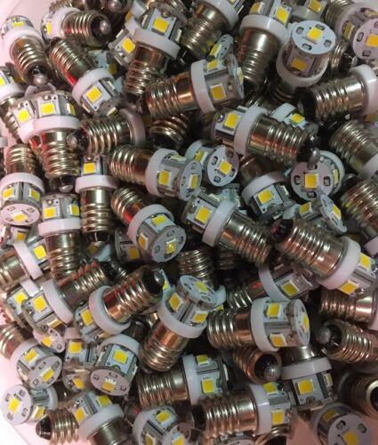 10 WHITE LED SCREW BASE LAMPS//DIAL//2000//2000A//3000//3000A//800//4000//Sansui Dial