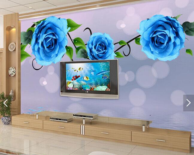 3D Einzigartige Blau Rose 255 255 255 Fototapeten Wandbild Fototapete BildTapete Familie 5133a1
