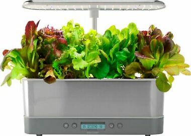 AeroGarden Harvest Elite Slim Heirloom Salad Stainless
