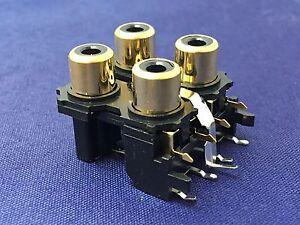 douilles-de-Gold-Cinch-PCB-monte-2-x-2-YKC21-3269N