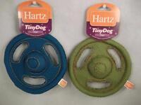 Hartz Tuff Stuff Tiny Dog Flyer Frisbee Train Fetch Tug Play Toy Flying Saucer