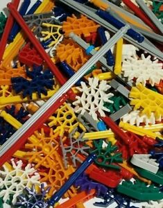 200 KNEX Rods /& Connectors Random Mixed Bulk Lot Standard Replacement Parts