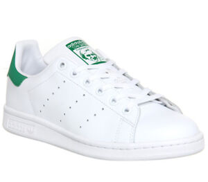Mens-Adidas-Stan-Smith-Trainers-Core-White-Green-Trainers-Shoes