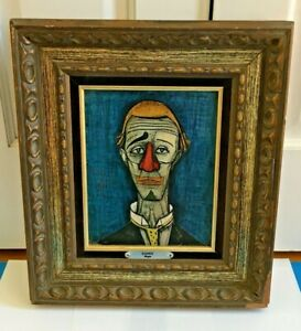 Astounding Details About 1960S Bernard Buffet The Clown Turner Wall Accessory Print Interior Design Ideas Apansoteloinfo