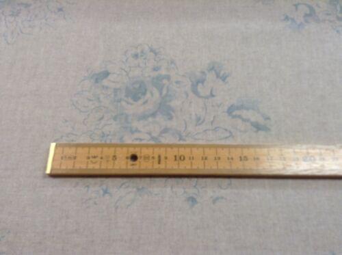 "Vintage Lino cameo Rose Azul//Beige Gris 140cm//54/"" Cortina//Tela Artesanal"