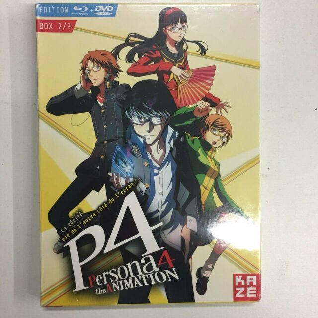 Persona4 the Animation Box 2/3 Edition Blu-Ray+DVD New Blister Pack c30