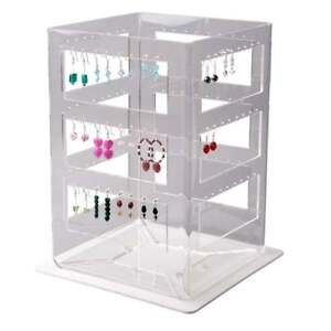 Image Is Loading Acrylic Ladder Spinner Earring Display Stand Jewellery Retail
