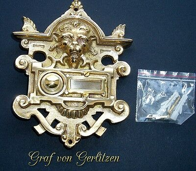 Messing Klingel 1 Klingelschild Klingelplatte Brass Door Bell Türklingel K32P