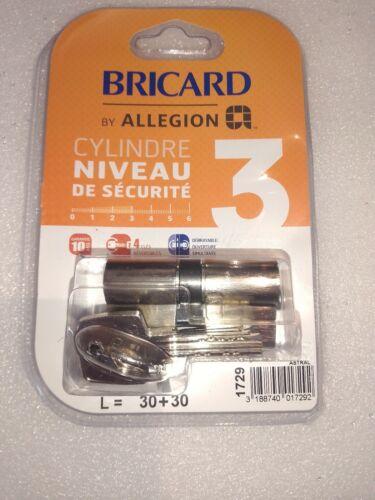 BRICARD by allegion 1729Cylindre 30+30 mm niveau de sécurité 3
