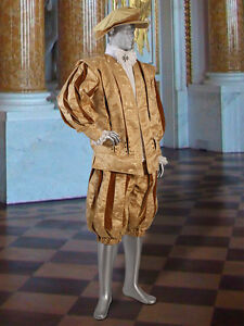 Renaissance-Medieval-Doublet-Coat-Handmade-from-Damask-and-Lined