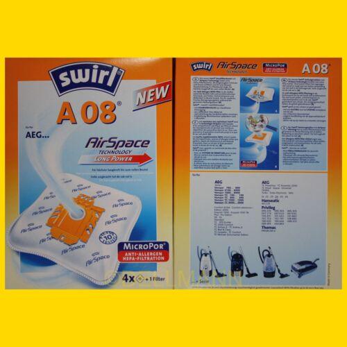 SWIRL A 08 Micropor Staubsaugerbeutel A08  +1 Filter Frei Haus per DHL-Paket