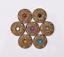 10X-Western-3D-Flower-Turquoise-Conchos-For-Leather-Craft-Bag-Belt-Purse-Decor miniature 1
