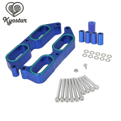 Aluminum Power Block Intake Manifold Spacers For 2013-2017 BRZ Scion FR-S Blue