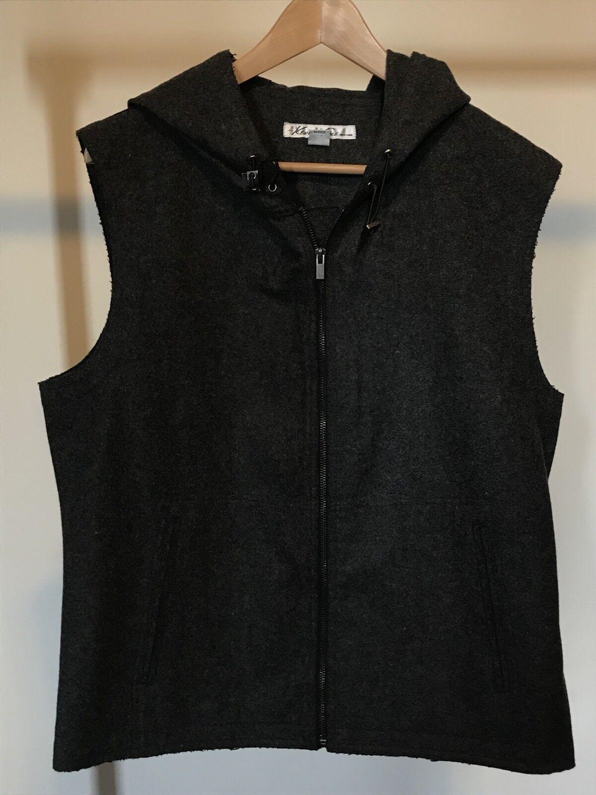 Kenneth Cole Men's grau Zip Up Hooded Vest