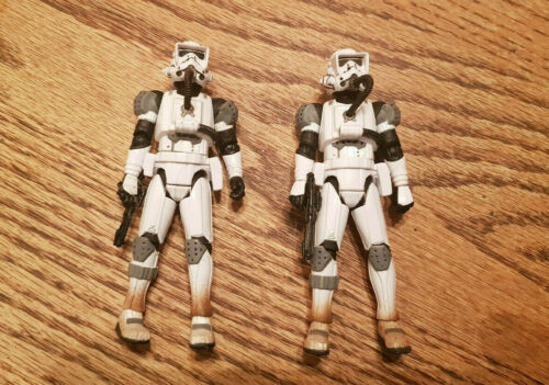 STAR WARS IMPERIAL JUMP TROOPERS LOT OF 2 LOOSE RARE
