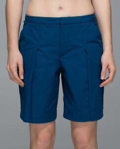 866ba8fb5 LULULEMON Women s LONG STORY SHORT Walking Golf Hiking Shorts ...