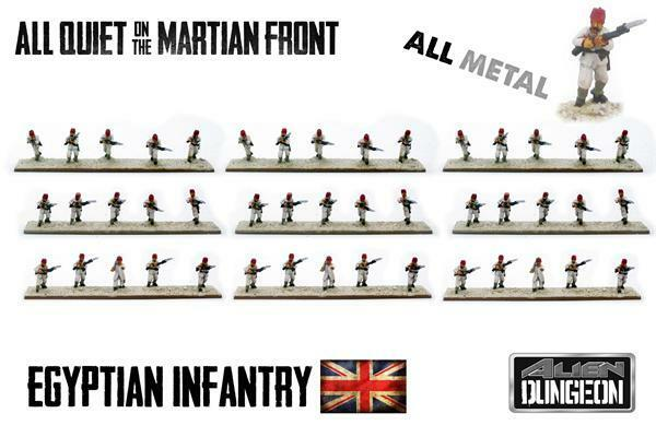 BF015-EGYPTIAN INFANTRY - ALL QUIET ON THE MARTIAN FRONT ALIEN DUNGEON