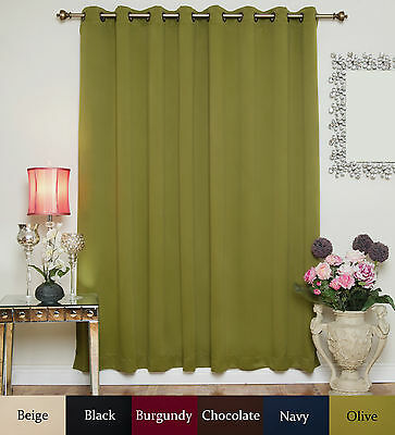 "RETURNED ITEM! Wide Antique Brass Grommet Top Blackout Curtain 100""by96"" Panel"