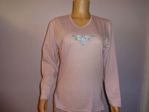 Ladies New 100/% Cotton Long Sleeve Pyjamas in 4 colours Small only