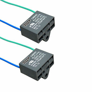 2 pack capacitor for harbor breeze ceiling fan 8uf 2 wire. Black Bedroom Furniture Sets. Home Design Ideas