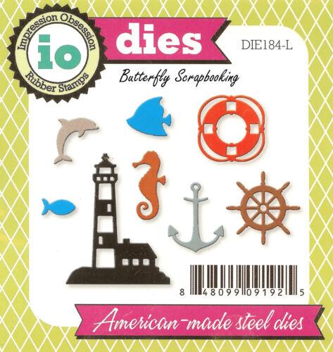 Mini Beach Nautical American made Steel Dies Impression Obsession DIE184-L New