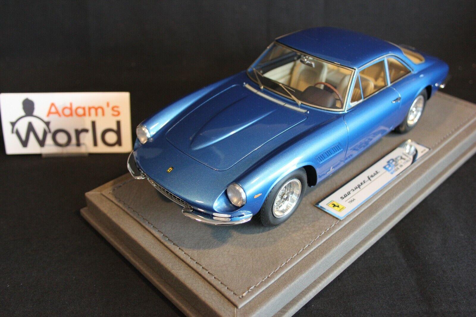 BBR Ferrari 500 Superfast 1964 1 18 light metal bleu (PJBB)