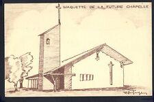 cpa TRÈS RARE 62 - LENS LIEVIN LOOS  MAQUETTE CHAPELLE du 16 Paroisse St Pierre