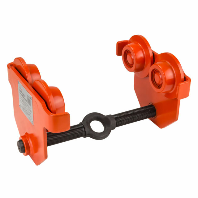 500kg 0,5t Laufkatze Rollfahrwerk Handfahrwerk Kran Katze Handlaufwerk 50-220mm