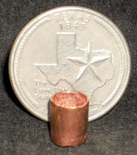 Dollhouse Miniature Hand Made 2 Copper Cups//Tumblers 1:12 Mexican Import Kitchen