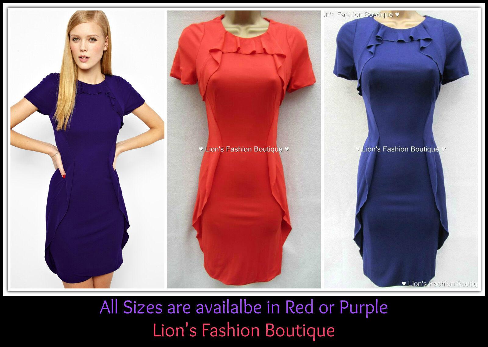 New KAREN MILLEN Ruffle BNWT  Jersey Dress UK Size 8 10 12 14 sale