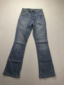Levi-039-s-525-Bootcut-Jeans-w27-l32-blau-super-Zustand-Damen