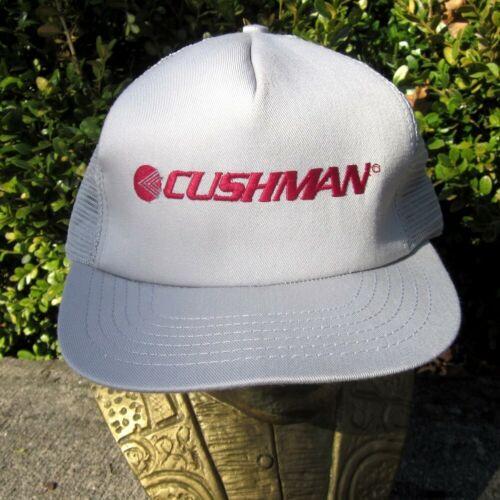 CUSHMAN trucker cap Textron transportation hat vtg