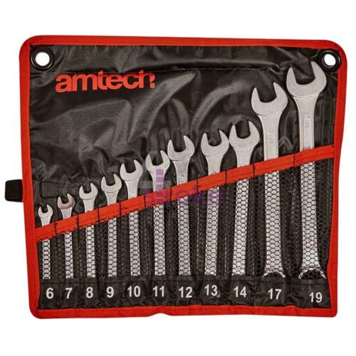 11pc Combination Wrench Set 6-19mm Spanner Mechanic Drop Forged Chrome