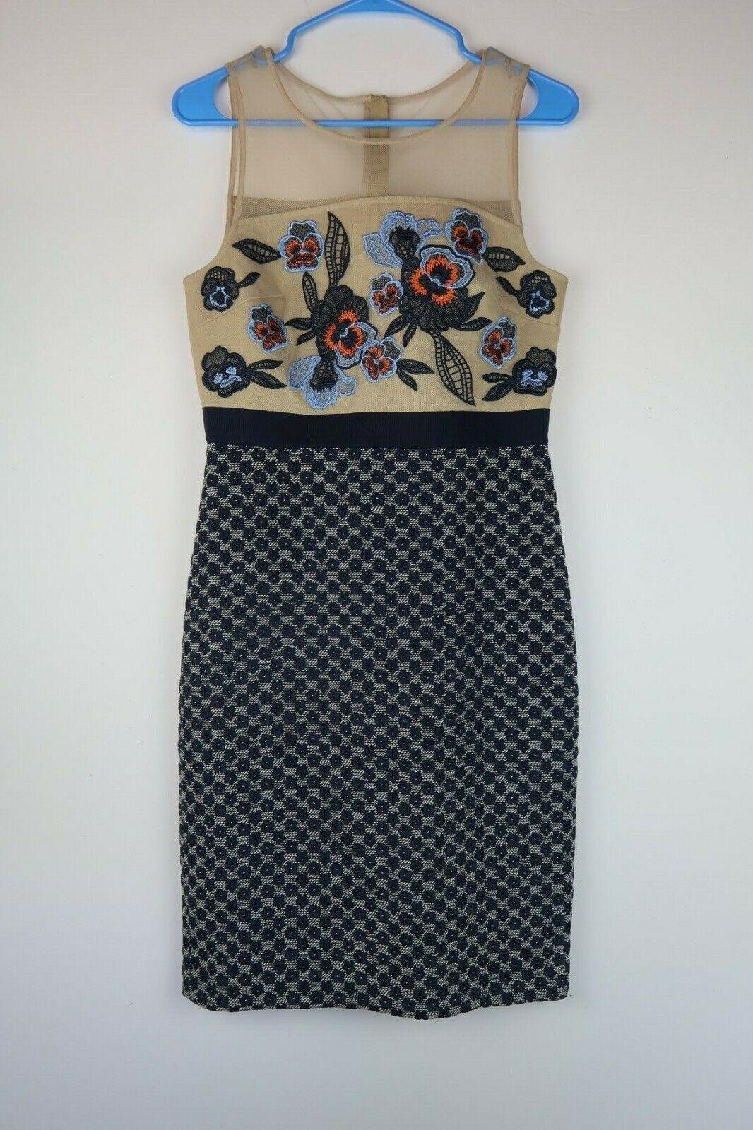 Nuevo con etiquetas anthropologie Moulinette Soeurs multiColor bordado vestido  impreso 6  barato y de alta calidad