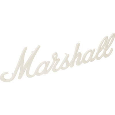 """OEM 11/"""" Marshall White Script Logo JCM2000 TSL100 JCM900 JCM800 others"""
