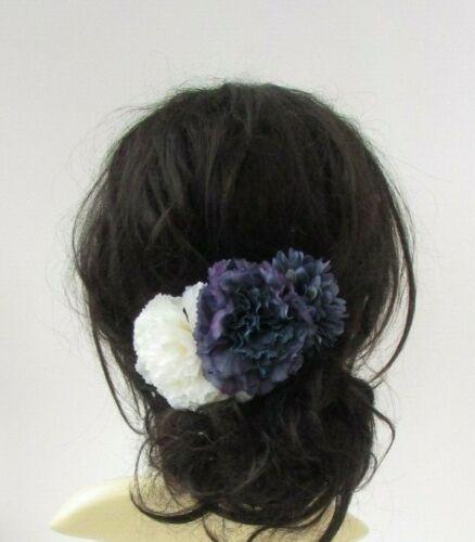Bleu Marine Crème Cheveux Fleur Peigne Fascinator Floral Demoiselle D/'honneur Mariage Vintage 7020