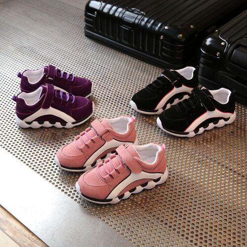 Enfants Garçon Fille Enfant Chaussures De Sport Course Décontracté Léger Baskets Respirant