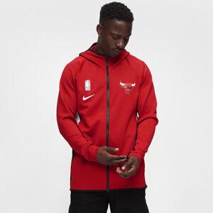 Details zu Nike NBA Chicago Stier Therma Flex Showtime Kapuze Herren Rot Active AT8452 657