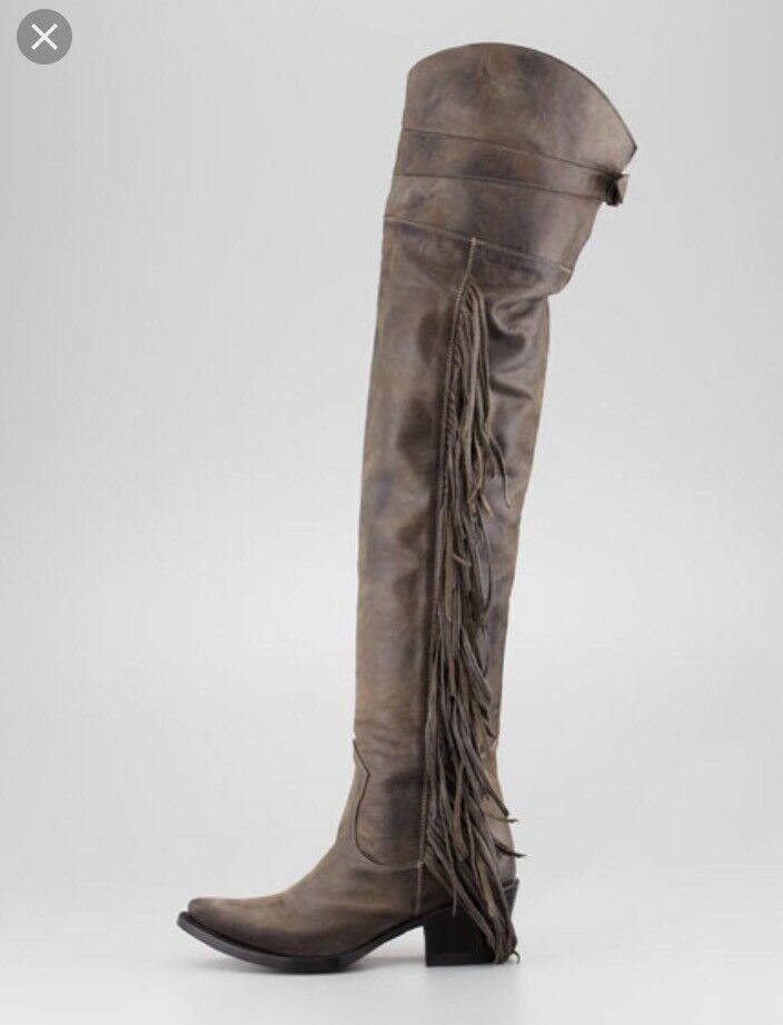 Ash Austonian Boots Butch 9 Fringe Western Over The Knee Free People Cowboy