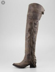 4cec14d12b5 Details about Ash Austonian Boots Butch 9 Fringe Western Over The Knee Free  People Cowboy